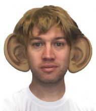 Wayne Rooney Big Ears and Wig Football Fancy Dress